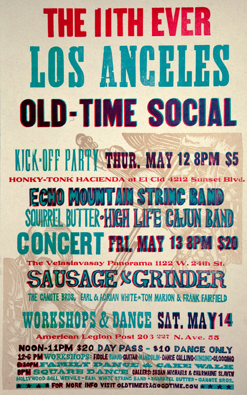 11th Ever Los Angeles Old Time Social - Music Concert Poster