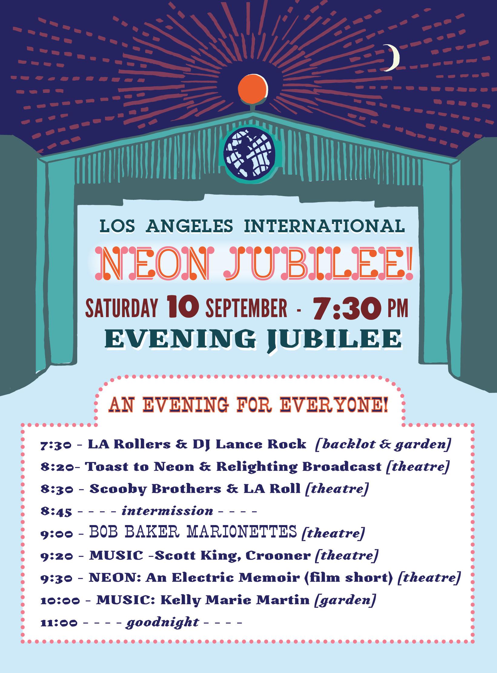 Evening Jubilee Schedule