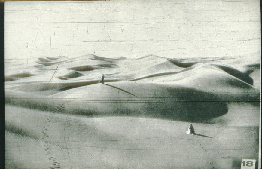 Strange black & white sandscape