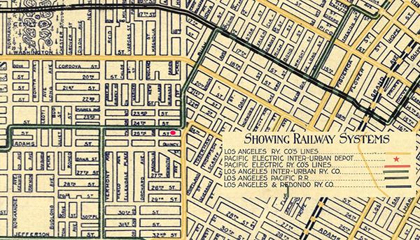 Los Angeles Inter-Urban Railway Co. on 24th Street